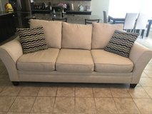 Sofa and love seat with deco pillows in Fort Hood, Texas