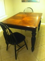 Solid wood Dining Table+2 Chairs in Kingwood, Texas