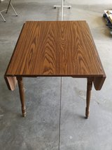 Wood foldable dining table in DeKalb, Illinois