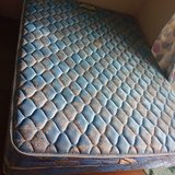 Queen mattress with frame in Okinawa, Japan