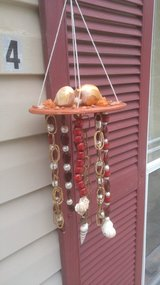 Handmade Seashell Wind Chime-Rust Orange in Beaufort, South Carolina