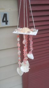 Small Handmade Seashell Wind Chime-Peachy Pink in Beaufort, South Carolina