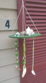 Handmade Seashell Wind Chime-Green in Beaufort, South Carolina