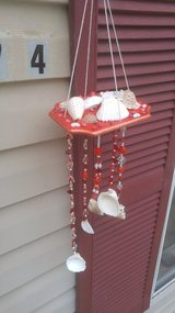 Handmade Seashell Wind Chime-Red in Beaufort, South Carolina