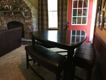 Triangle Dining Table with bench seats in Camp Lejeune, North Carolina