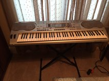 Casio Electric Keyboard Synthesizer WK3500 with case and stand in Camp Lejeune, North Carolina