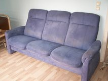blue sofa /couch with a few stains - for free in Ramstein, Germany