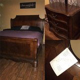 King size sleigh bed and dresser from Ashley in Fort Polk, Louisiana