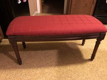 Upholstered Bench Seat-Dark Wood in Sandwich, Illinois