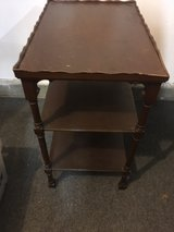 Antique end table in Camp Pendleton, California