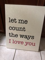 "Picture on sparkly canvas "" Let me count the ways"" in St. Charles, Illinois"