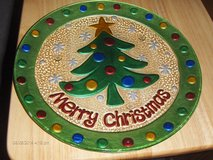 """11"""" Christmas Tree Platter with Matching Spreader in Kingwood, Texas"""