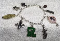 Charm Bracelet Louisiana Stainless Adjustable Nine Charm Some in Color New Design in Kingwood, Texas