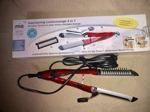 220v 3-in-1 Straightener Curler and Brush - Professional Flat Curling Iron and Straightening Brush in Ramstein, Germany