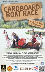 Cardboard Boat Race in Fort Leonard Wood, Missouri
