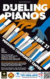 SAVE the DATE!  Dueling Pianos in Fort Leonard Wood, Missouri