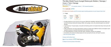 **Reduced price** Bike Shield Tourer Motorcycle Shed/Cover Large Size in Okinawa, Japan