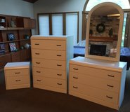 4-piece white bedroom dresser set - good condition in Westmont, Illinois