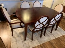 Mahogany Dining Room Table with Six Chairs in Fort Hood, Texas
