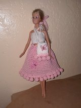 Pink Hand Crochet Barbie Doll Outfit in Fort Hood, Texas