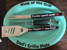 Dad grilling set in Fort Campbell, Kentucky
