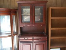 CHINA HUTCH WITH LEAD GLASS DOORS in Warner Robins, Georgia
