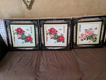 3 pc Embroidery Flower Pictures in Cleveland, Texas