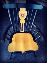 """USMC """"Captains Chair"""" wooden chair. in Okinawa, Japan"""