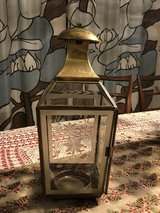 Brass Colored Etched Glass Lantern in Travis AFB, California