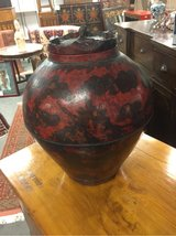 A Chinese wooden wine jar Circa 1880's. in Okinawa, Japan