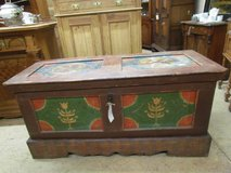 Chest Alsace softwood rustic painting laundry chest beer glaze in Ramstein, Germany