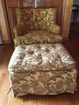 Drexel Heritage Furnishings Vintage Chair and Ottoman in Naperville, Illinois