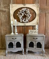2 French Nightstands- French linen in Kingwood, Texas