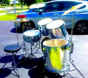 ** $220 FULL complete drumset w/extras!! ** (video sample) in Joliet, Illinois