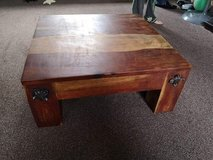 solid wood coffee table. 60cm square, 25 cm high. in Lakenheath, UK