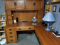 Corner desk and hutch + chair in Chicago, Illinois