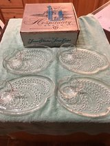 Vintage Federal Glass Hospitality Wheat Snack Set of 6 in Fort Riley, Kansas