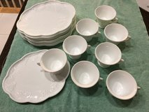 Vintage Indiana Glass Hostess Snack Set of 8 Milk Glass Grape and Leaf Design in Fort Riley, Kansas