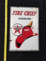 1954 Texaco Fire Chief Pump Sign in Fort Leonard Wood, Missouri