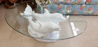 Dolphins Glass Topped Coffee Table #1411-2163 in Camp Lejeune, North Carolina