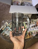 Glass cups with handles in Fort Riley, Kansas