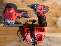 Milwaukee m12 jigsaw, drill, battery and charger in Ramstein, Germany