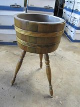 Vintage Barrel Planter with Legs in Oswego, Illinois