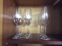 Crystal champagne glasses in Ramstein, Germany