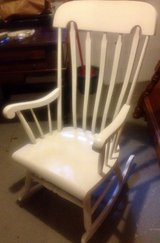 White solid wooden rocking nursery chair in Wiesbaden, GE