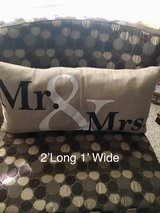 Mr & Mrs accent pillow in The Woodlands, Texas