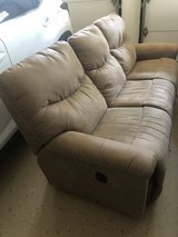 brown suede couch in Algonquin, Illinois