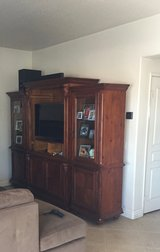 Entertainment center real wood. Fits 42 inch Television in Camp Pendleton, California