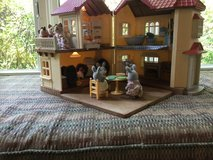 Calico Critters Luxury Townhome Gift Set with three extra critter families - fully furnished in Joliet, Illinois