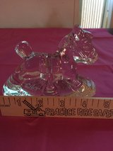 Pair of Biedermann Cut Glass Rocking Horse Candle Holders in Beaufort, South Carolina